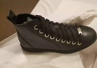 JIMMY CHOO SNEAKER COLT SMOOTH CALF - BLACK SIZE 38 EUR/7- 8 US Lakewood, 08701