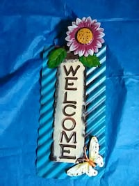 Metal door hanging welcome sign Roanoke, 24012