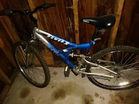 blue and gray Power Next full-suspension bike