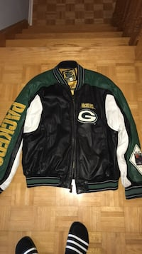 Carl Banks XL Green Bay Packers Leather Jacket Vaughan, L4H 1J9