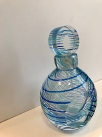 "Art Glass Mirano Perfume Bottle 6""H"