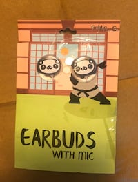 Brand new panda earbuds with mic