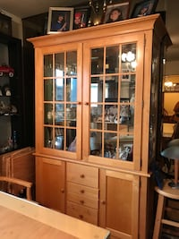 brown wooden framed glass display cabinet Chicago, 60656