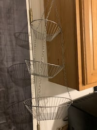 3 tier Hanging wire basket