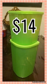 green and white plastic container McAllen, 78501