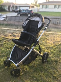 baby's black and gray stroller Montclair, 91763