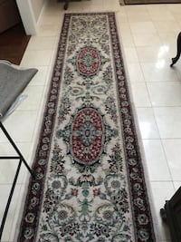 brown and black floral runner rug Montgomery, 12549