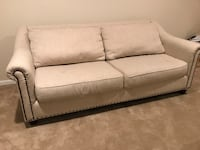 Cream fabric 2-seat sofa 51 km