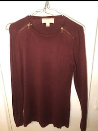 Michael kors knit top with zipper detail size small Toronto, M5R
