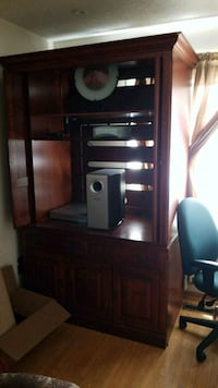 brown wooden TV hutch Brampton, L6V 3M3
