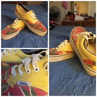 YYellow green and red leaves vans shoes. Cincinnati, 45251