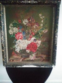18th CENTURY STILL LIFE OF FLOWERS SIGNED  PIKESVILLE