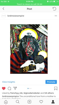 "Spiritual painting of Voodoo ""lwa"" that brings protection and success into businesses Rockville, 20851"
