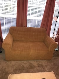 Sofa and loveseat slipcover