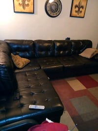 black leather sectional couch with ottoman Lafayette, 70508