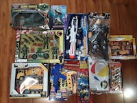 assorted action figure collection