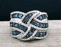 Brand new ladies silver ring with Souvlaki crystal Durham
