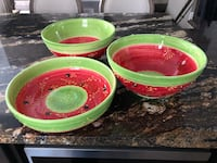 3 large glass serving dishes. All for $25 London, N6B