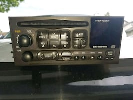 black 1-din car stereo