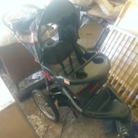 black and red tandem expedition jogging stroller Waco