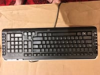 black hp corded computer keyboard