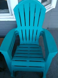 blue and green plastic adirondack chair Albany, 12206