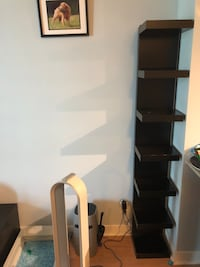 IKEA Black and Brown Wooden Shelving Unit Mississauga, L5B 0H8