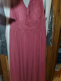 Cranberry colored dress size 18