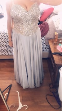 Dress with sequin prom or wedding