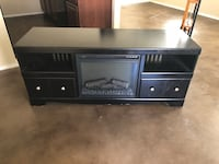 Black wooden tv stand with cabinet Belton, 76513