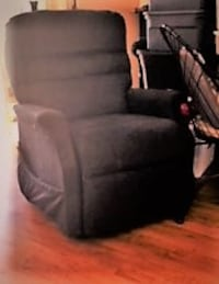 black suede padded sofa chair BOCARATON