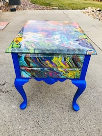 Hand painted tables