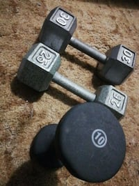 3 assorted weights pull. Up bar.  Beaver Bank, B4G 1A4