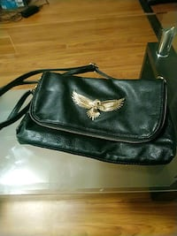 Black purse with eagle pedeant  Waterloo