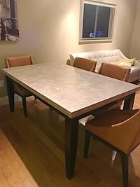 Marble dining table and 6 leather chairs Miami, 33130