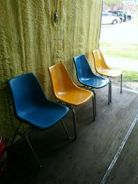 blue and yellow plastic chair Monroe, 71201