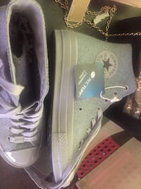 pair of gray Converse All Star high-top sneakers Los Angeles, 90044