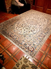 brown and white floral area rug 3752 km