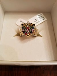 Gems en Vogue Panther Ring. SIZE 7 New w/ Box/tags Omaha, 68105
