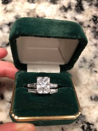 Size 5 sterling silver cubic zirconia ring. I have had this set for 10 years and it still shines like the day I bought it! Amazing quality Fort Erie, L2A 1Z7