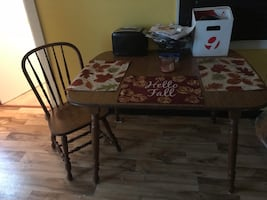 Wooden Table, Comes with 2 Chairs!!!