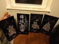 Four black wall decors Cleveland, 44144