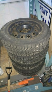 Winter tires set for VW Jetta with steel rims Kitchener, N2C 2A9