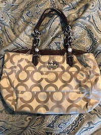 brown and black Coach monogram tote bag Naugatuck, 06770