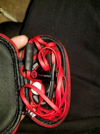 red and black corded headphones Dallas, 75261