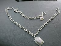 silver-colored chain necklace Damascus, 97089