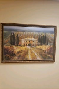 Painting 3.5' x 3.5' french chateaux