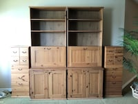 Bookcases with built in desks and drawers Houston, 77065