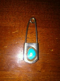 Turquoise safety pin Willow Park, 76008