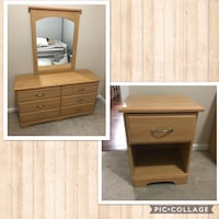 dresser with mirror and nightstand 3734 km